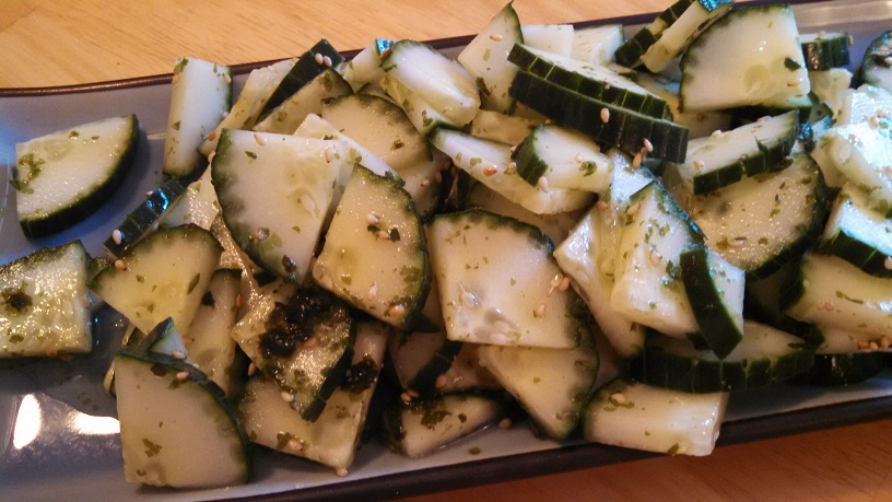 Sunomono (Cucumber Salad With Seaweed And Sesame)