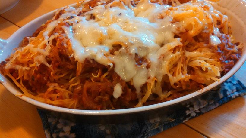 Baked Spaghetti Squash Parmigiana