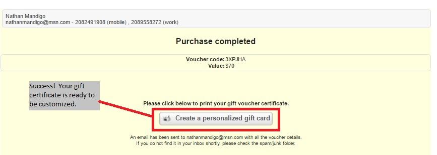 Gift Certificate Tutorial